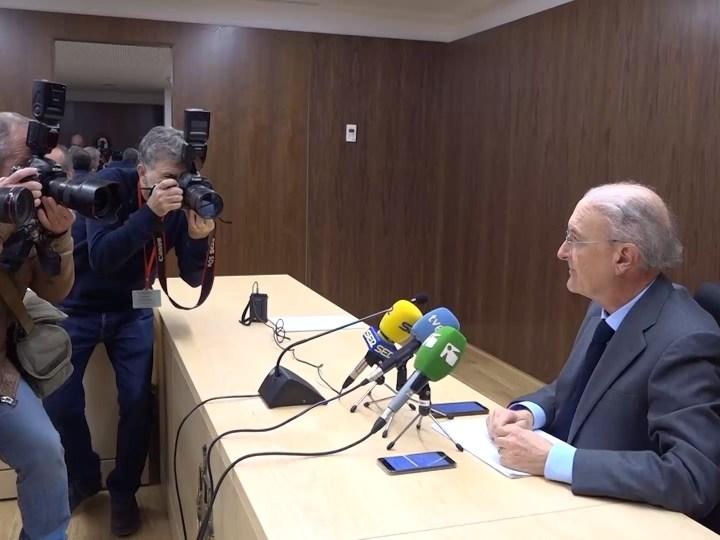17/12 El president TSJIB Antoni Terrassa, visita els nous jutjats dos setmanes després de que entrin en funcionament