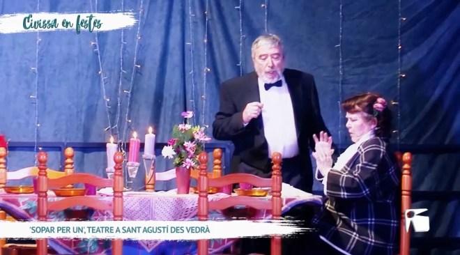29/12/2019 Eivissa en Festes - 'Sopar per un', teatre a Sant Agustí