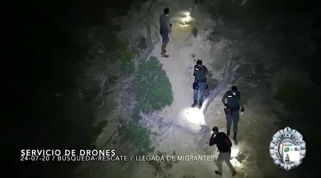 27/07/2020 Sis immigrants interceptats a Cala Truja