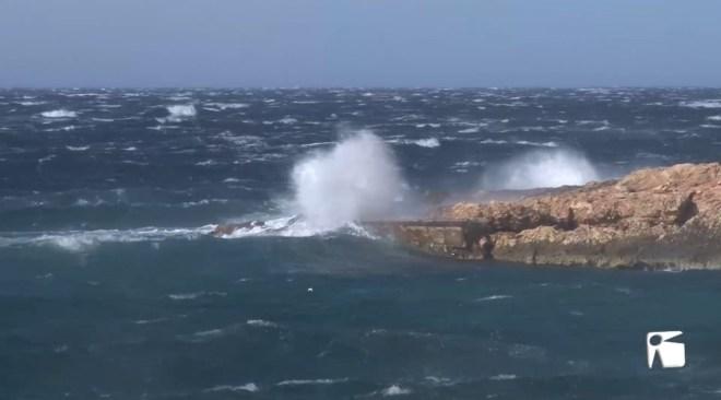 22/01/2021 Hortènsia deixa ràfegues de vent de 100 km/h a Eivissa