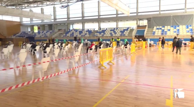 04/02/2021 Només 5 positius entre 1.147 participants al primer dia de cribratge a Sant Josep