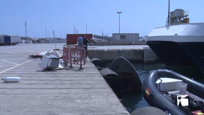 18/08/2021 Mor decapitat per un ferry al port de Vila