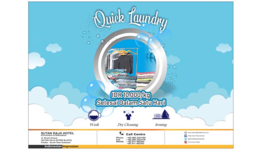 Ingin Laundry Sehari Jadi? Quick Laundry Hotel Sutan Raja Tempatnya