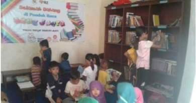 Perpustakaan Pondok Baca Sang Juara yang dijadikan tempat membaca bagi warga umum dan khususnya anak-anak pelajar. FOTO : ASL