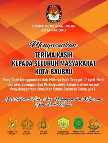 Iklan KPU Baubau