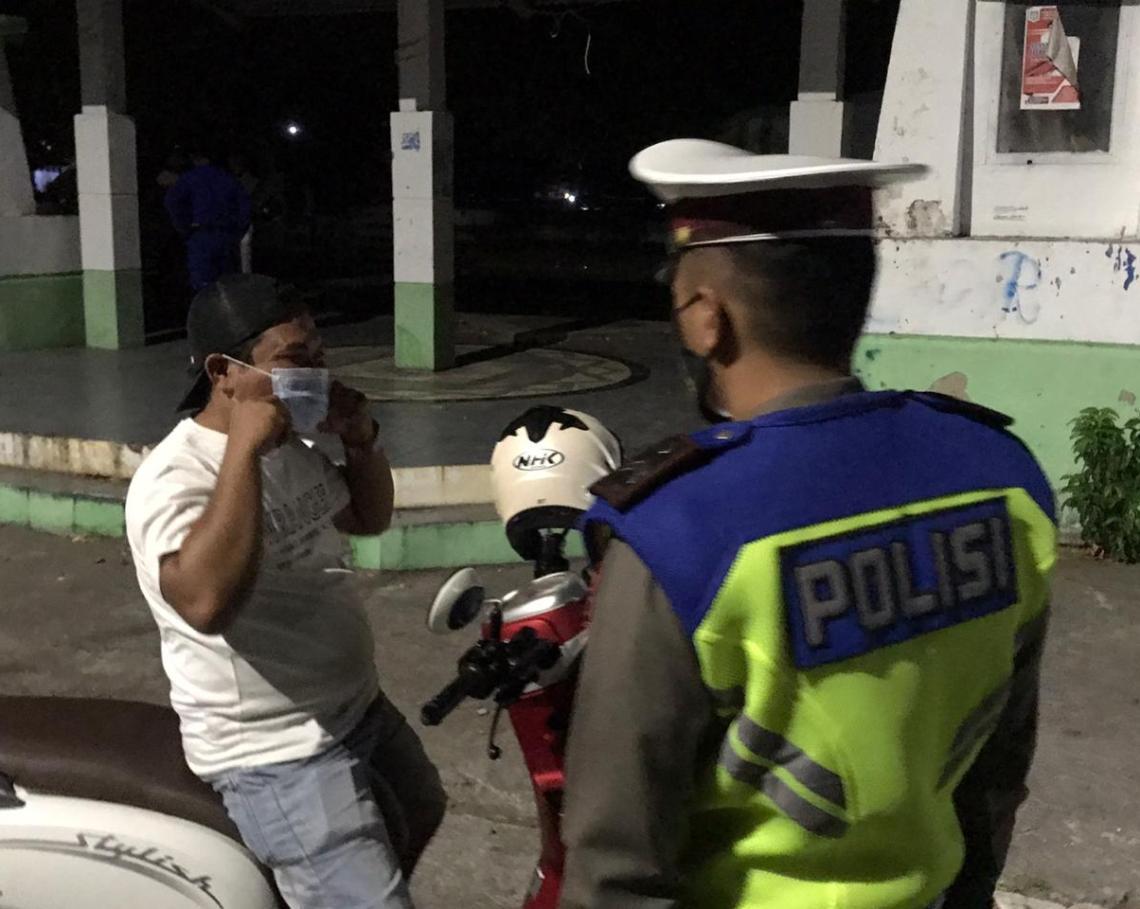 Kepolisian Polres Selayar saat gelar operasi cipta kondisi