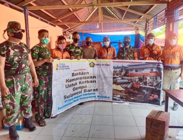 PT Ceria Kirim Bantuan Kemanusiaan Korban Gempa Majene Sulbar
