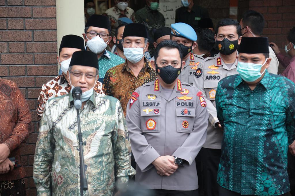 Kapolri Jendral Listyo Sigit Prabowo saat mengunjugi PBNU