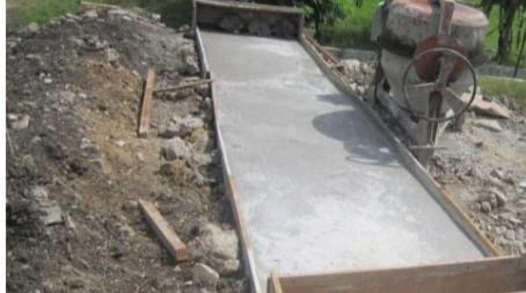 Proses pembangunan deker tahun 2020 desa Matabaho sebanyak 3 unit