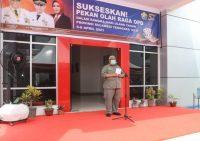 Gubernur Sulawesi Tenggara, H. Ali Mazi, SH saat menyampaikan pidato