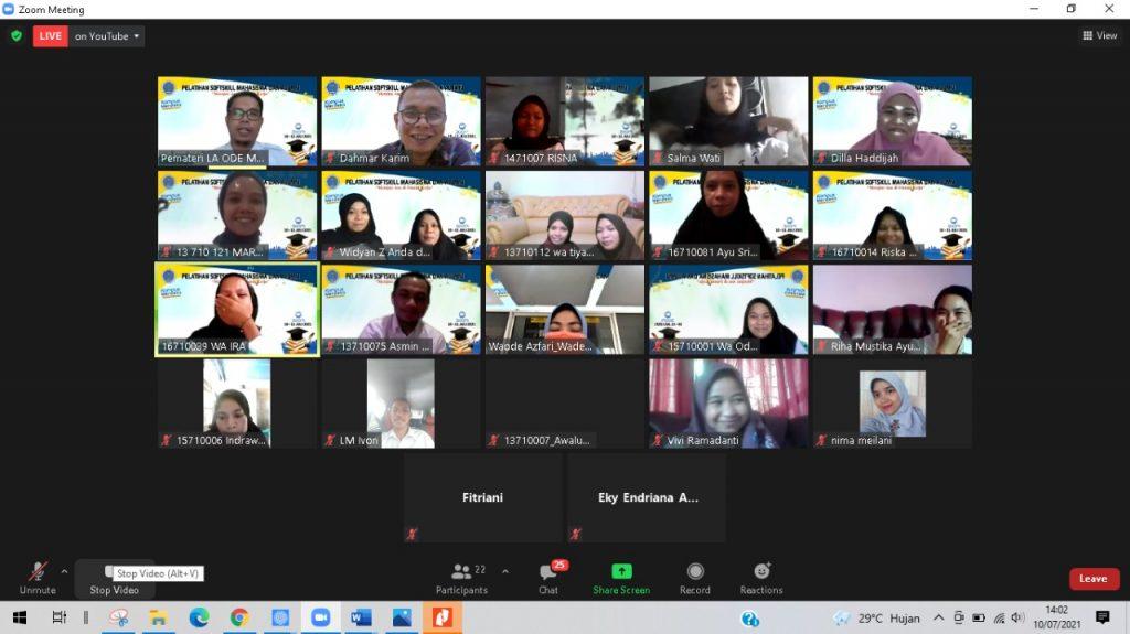 FKM Unidayan gelar pelatihan Softskill virtual bagi mahasiswa dan alumni