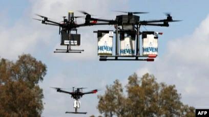 Layanan Pos Inggris Gunakan Drone untuk Kirim APD dan Alat Tes ke Pulau-Pulau Terpenci