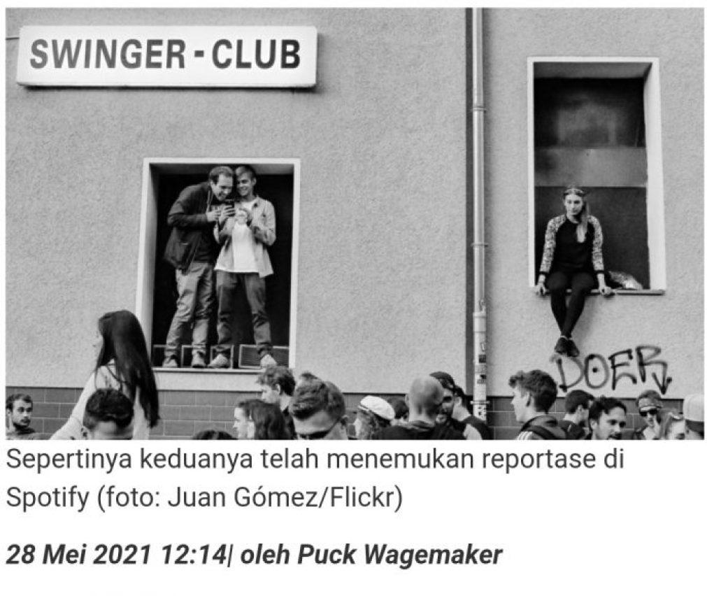 Wartawan dari stasiun radio Denmark berhubungan seks di klub swinger selama reportasenya