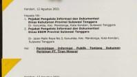 Pusat Advokasi Hukum Pertambangan dan Energi Surati PT Tiran Mineral, ESDM dan Kehutanan Sultra
