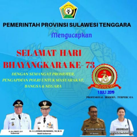 Iklan Kominfo Sultra HUT Bhayangkar