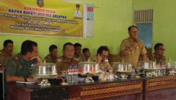 Sinkronisasi Program Pembangunan, Untuk Desa Maju Konsel Hebat