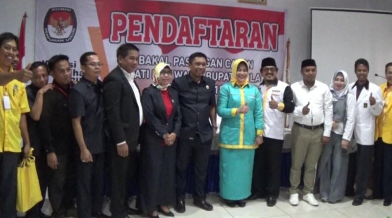 Paslon Asmani Arif Syahrul Beddu Daftar di KPUD