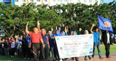 Pawai Karang Taruna yang di ikuti 500-san Kade se Kabupaten Bantaeng dalam rangka Pembukaan Studi Karya Bhakti Karang Taruna (SKBKT). FOTO : SYAMSUDDIN