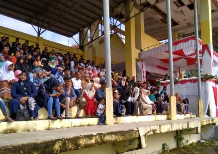 Upacara HUT RI Ke 74 Warga Padati Tribun di Aceh Singkil