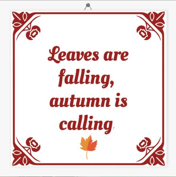 Herfst quote tegeltjes