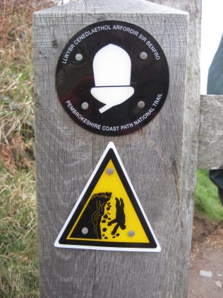 2. Watch out. At times the path is close to the cliff edge.