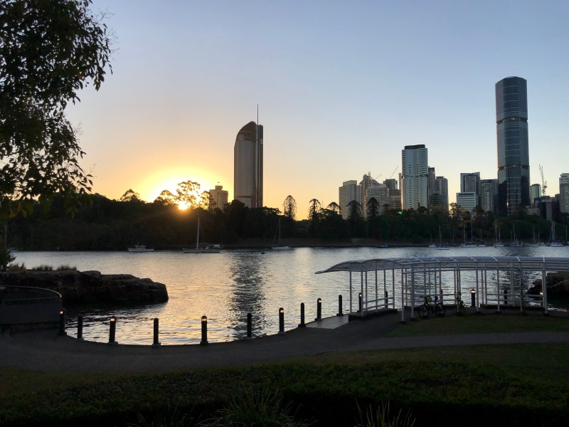 Sunset on Brisbane