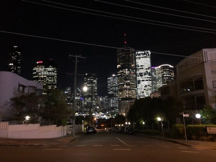 Night sky in Brisbane