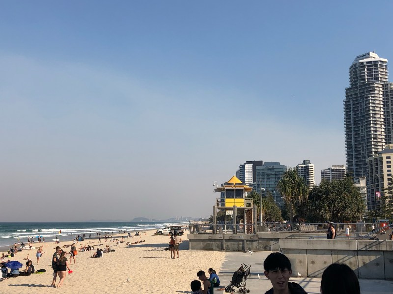 beach and buildings