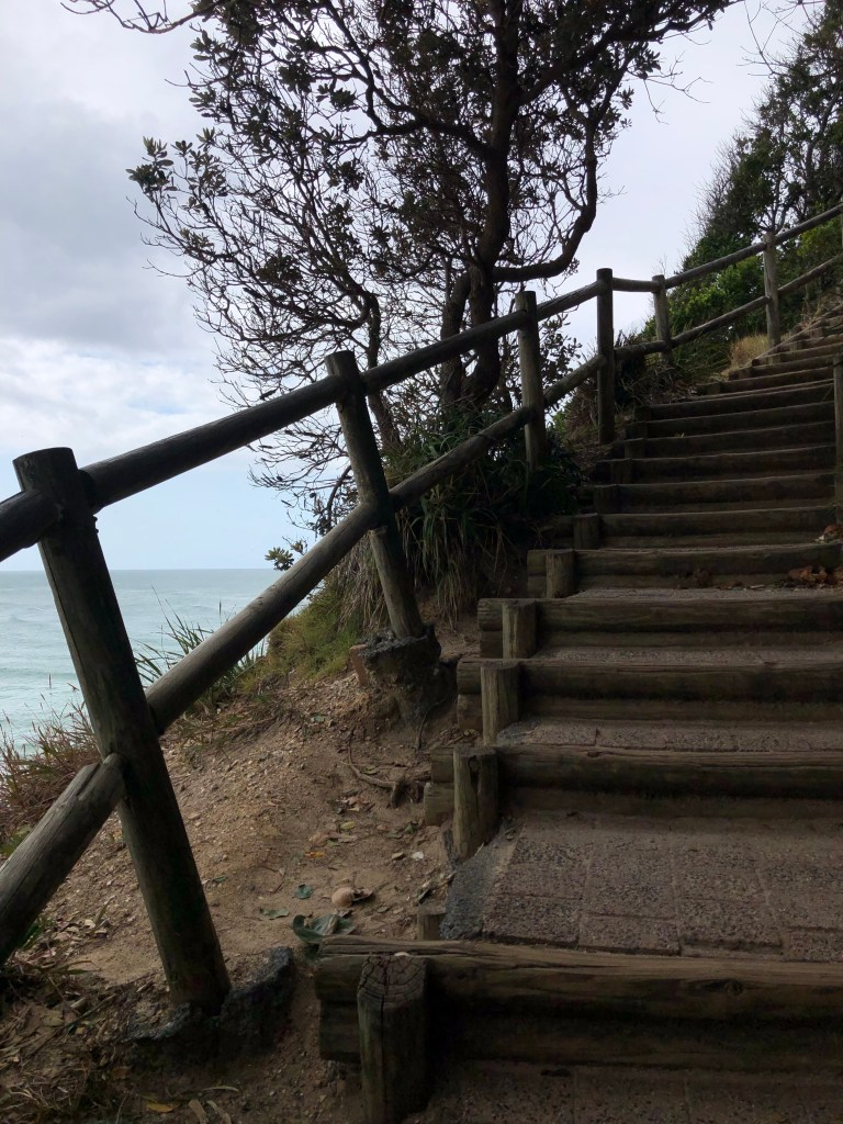 staircase by ocean