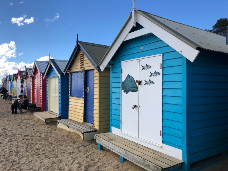 painted bath houses