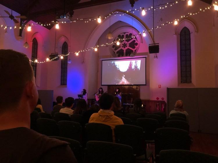 concert inside church