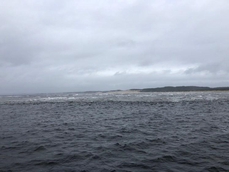 sandbar and ocean waves
