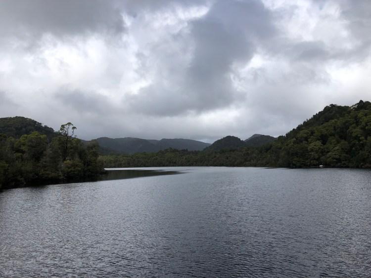gordon river with mountains