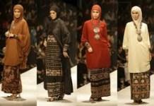 Baju Muslim Berbahan kain Tenun Lombok
