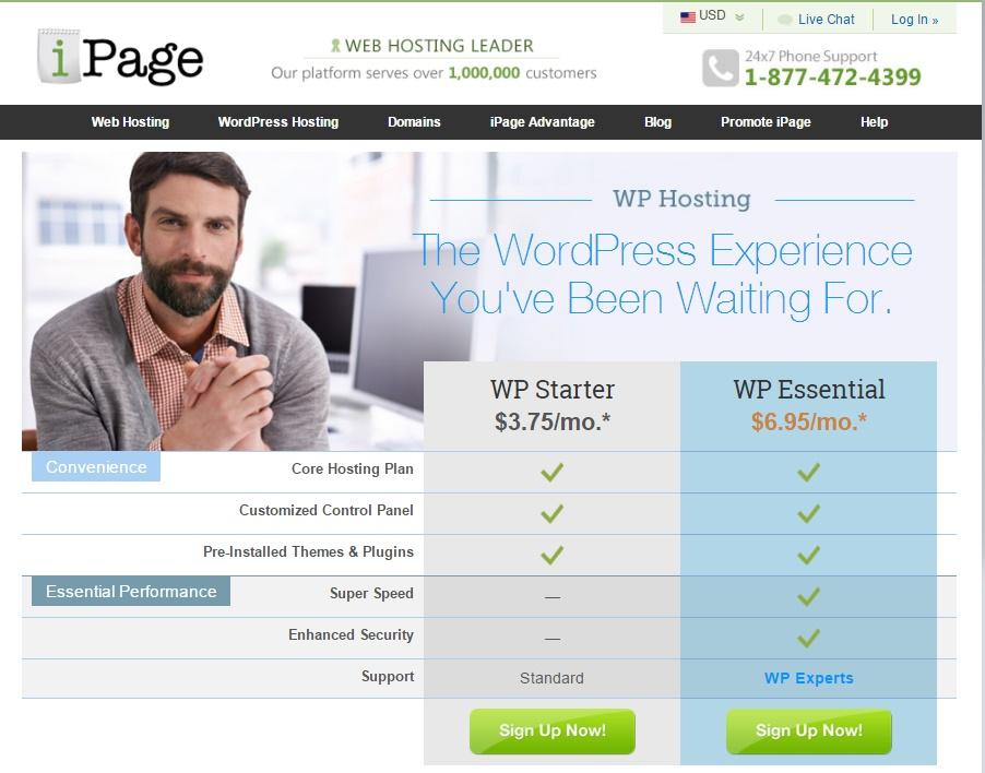 Ipage web hosting untuk wordpress murah berkualitas
