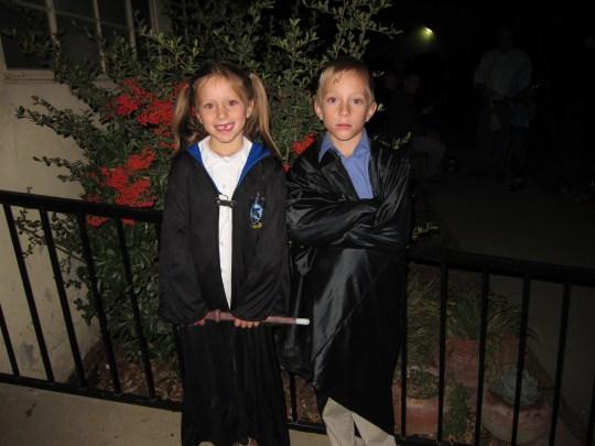 Waverly & Jackson entering the school of wizardry