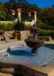 Fountain in courtyard.