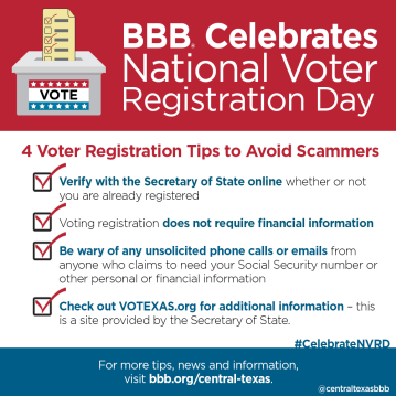 Voting Scams Alert, 2015