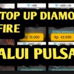 Cara Beli Diamond Free Fire Murah (Top Up) Memakai Voucher Pulsa