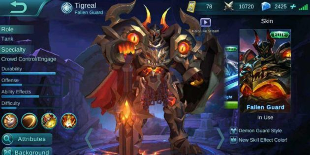build item tigreal terkuat