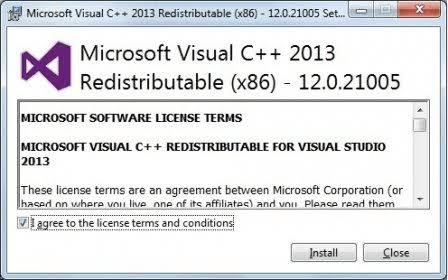 Install vcredist to fix error 0xc00007b