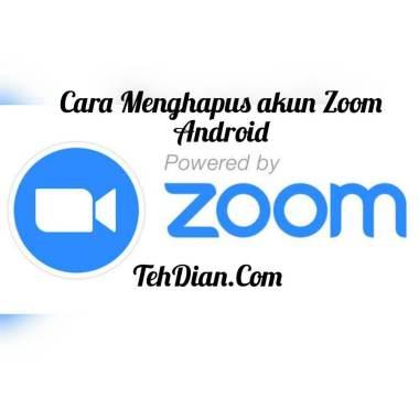 cara menghapus akun zoom