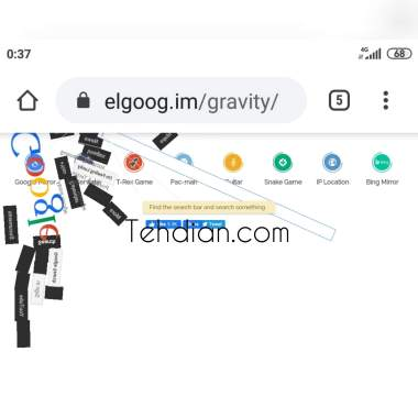 Google gravity berhasil