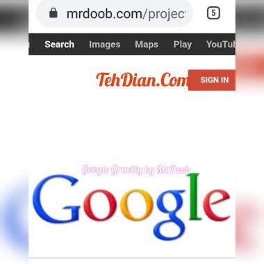 Google gravity mr.doob