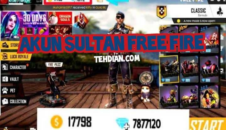 Akun ff sultan terbaru 2020
