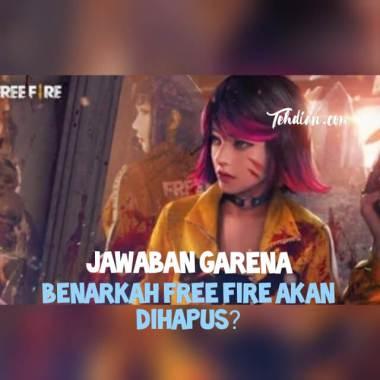 Free fire akan dihapus