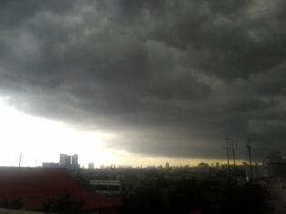black clouds before rain