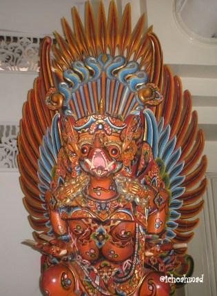 Wood sculpture at Museum TMII