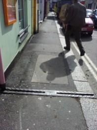 Pavement drain by F. Dingey Truro Foundry, Little Castle Street, Truro.