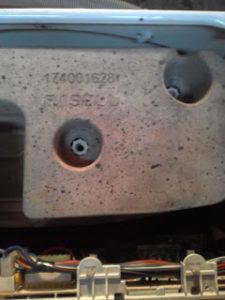 Противовесы стиральной машины индезит